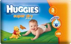 Huggies Super Dry 3 (5-9 kg) 58 buc