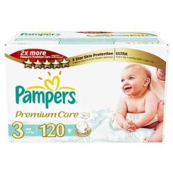 Pampers Premium Care 3 Midi (4-9 kg) Mega Box - 120 buc