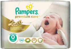 Pampers Premium Care 0 New Baby (pana la 2,5 kg) 30 buc