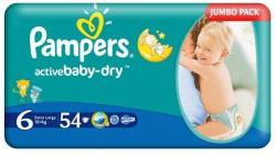 Pampers Active Baby 6 Extra Large (peste 15 kg) Jumbo Pack - 54 buc