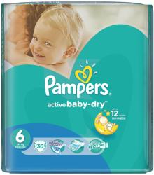 Pampers Active Baby 6 Extra Large (peste 15 kg) 36 buc
