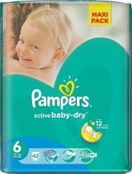 Pampers Active Baby 6 Extra Large (peste 15 kg) Maxi Pack - 42 buc