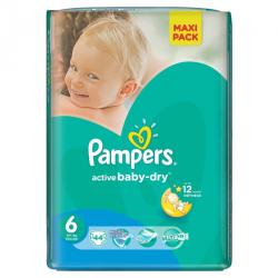 Pampers Active Baby 6 Extra Large (peste 15 kg) Value Pack - 44 buc