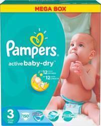 Pampers Active Baby 3 Midi (4-9 kg) Economy Mega Box - 150 buc