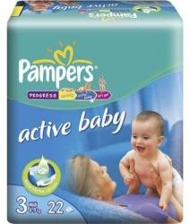 Pampers Active Baby 3 Midi (4-9 kg) 22 buc