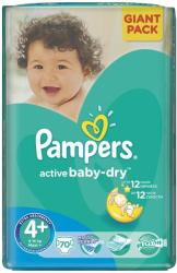Pampers Active Baby-Dry 4 Maxi Plus (9-16 kg) Giant Pack - 70 buc