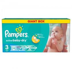 Pampers Active Baby-Dry 3 Midi (4-9 kg) Giant Box - 108 buc