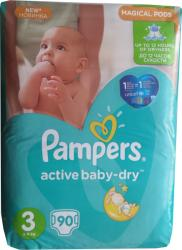 Pampers Active Baby-Dry 3 Midi (4-9 kg) Giant Box - 90 buc