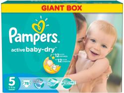 Pampers Active Baby-Dry 5 Junior (11-18 kg) Giant Pack - 78 buc