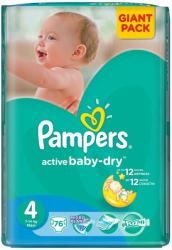 Pampers Active Baby-Dry 4 Maxi (7-14 kg) Giant Pack - 76 buc