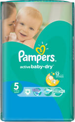 Pampers Active Baby-Dry 5 Junior (11-18 kg) 11 buc