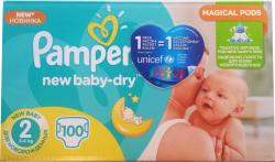 Pampers NewBaby-Dry 2 Mini (3-6 kg) Giant Pack - 100 buc