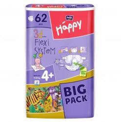 Bella Baby Happy 4 Maxi Plus (9-20 kg) 62 buc