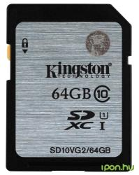 Kingston SDXC 64GB Class 10 SD10VG2/64GB