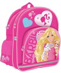 Starpak Barbie iskolatáska szivecskés cipzárral