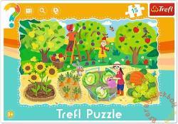 Trefl A kertben 15 db-os keretes puzzle (31218)