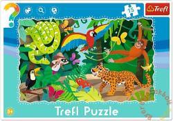 Trefl A dzsungelben 15 db-os keretes puzzle (31219)