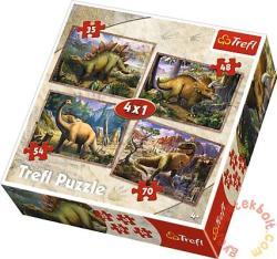 Trefl Dinoszauruszok 4 az 1-ben puzzle 35,48,54 és 70 db-os (34249)