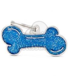 My family medalion - Os albastru cu glitter L