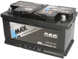 4MAX 80Ah 720A Jobb+