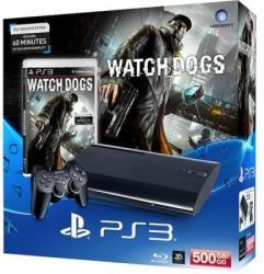 Sony PlayStation 3 Super Slim 500GB (PS3 Super Slim 500GB) + Watch Dogs