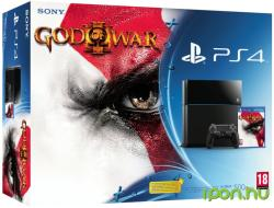 Sony PlayStation 4 Jet Black 500GB (PS4 500GB) + God of War III Remastered