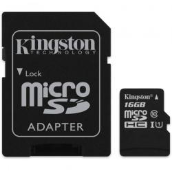 Kingston MicroSDHC 16GB Class 10 SDC10/16GBSP