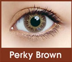 FreshKon Colors Fusion - Perky Brown dioptria nélküli (2 db) - havi