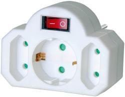 brennenstuhl 1 Plug + 2 Euro Plug Switch (1508100)