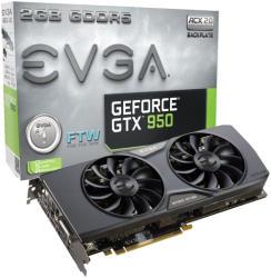 EVGA GeForce GTX 950 FTW ACX 2.0 2GB GDDR5 128bit PCIe (02G-P4-2958-KR)