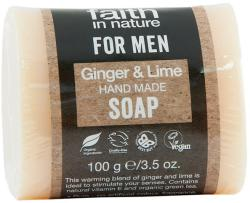 Faith in Nature Faith for men gyömbér-lime szappan (100 g)
