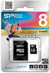Silicon Power microSDHC 8GB C10 SP008GBSTH010V10-SP