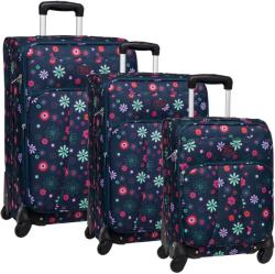 ROLL ROAD Blue Flowers Set 50/65/75 Valiza