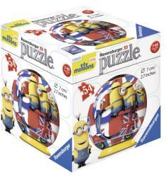 Ravensburger 3D gömb puzzle - Minyonok Londonban 54 db-os (11914)