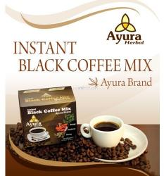 Ayura Herbal Black Coffe Mix ganodermával, instant, 10 tasak