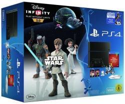 Sony PlayStation 4 Jet Black 500GB (PS4 500GB) + Disney Infinity 3.0 Edition Star Wars