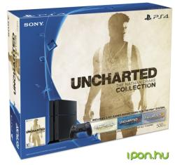 Sony PlayStation 4 Jet Black 500GB (PS4 500GB) + Uncharted The Nathan Drake Collection