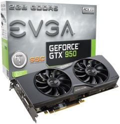 EVGA GeForce GTX 950 SSC ACX 2.0 2GB GDDR5 128bit PCIe (02G-P4-2957-KR)