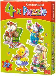 Castorland Szabadidő 4, 5, 6 és 7 db-os sziluett puzzle (B-04225)