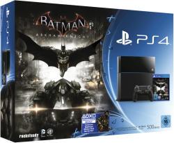 Sony PlayStation 4 Jet Black 500GB (PS4 500GB) + Batman: Arkham Knight