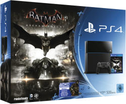 Sony PlayStation 4 Jet Black 500GB (PS4 500GB) + Batman: Arkham Knight