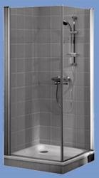Alföldi Liner dupla nyílóajtós 100x100x195 cm szögletes (UDW1010SKA120P)