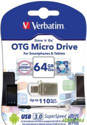 Verbatim Store 'n' Go OTG Micro 64GB USB 3.0 49827