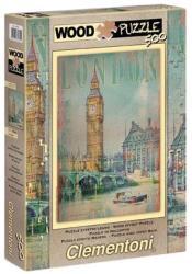 Clementoni Wood Puzzle - London 500 db-os (37035)