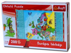 Trefl Oktató puzzle - Európa térkép 200 db-os (15506)