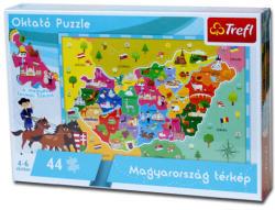 Trefl Oktató puzzle - Magyarország 44 db-os (15504)