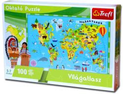 Trefl Oktató puzzle - Világatlasz 100 db-os (15505)