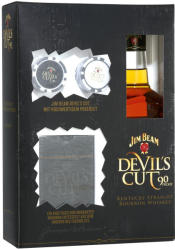 Jim Beam Devils Cut Whiskey Poker Set 0,7L 45%