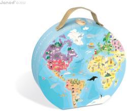 Janod Puzzle bőröndben - A kék bolygónk 208 db-os (02926)