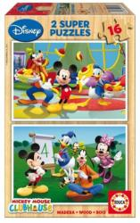 Educa Disney Mickey egér és barátai 2x16 db-os fa puzzle